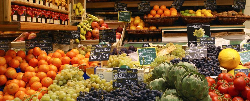 Marché de fruits et de légumes